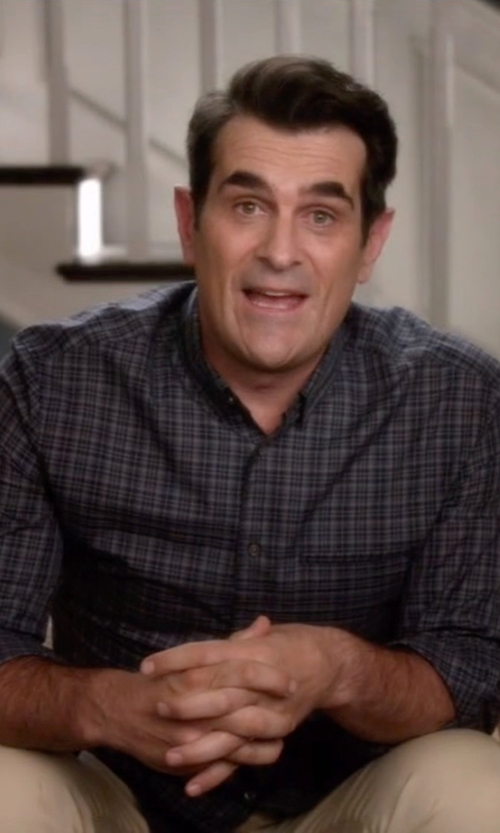 Ty Burrell with Calvin Klein Tonal Plaid Shirt in Modern Family