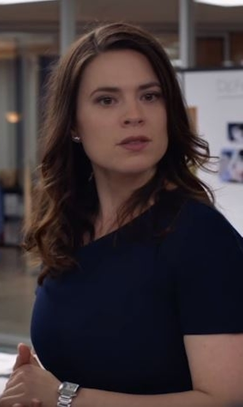 Hayley Atwell with Cartier Tank Francaise Watch in Conviction