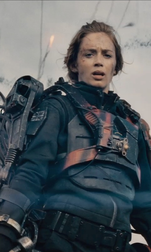 Emily Blunt with Kate Hawley (Costume Designer) Custom Made Power Armor Suit (Rita Vrataski) in Edge of Tomorrow