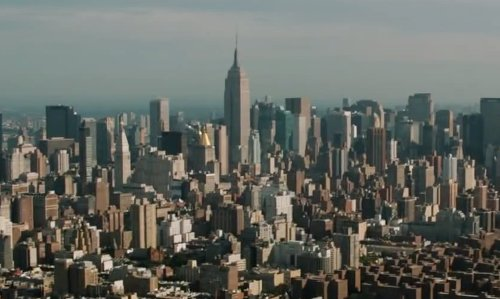Unknown Actor with Empire State Building New York City, New York in Anchorman 2: The Legend Continues