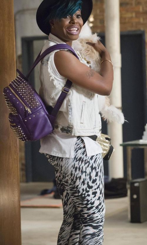 Ta'Rhonda Jones with MCM Stark Special  Swarovski Backpack in Empire