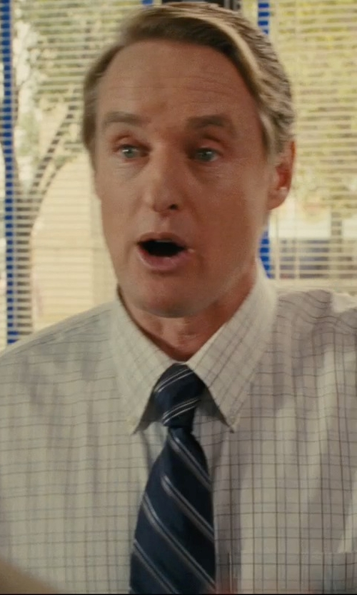 Owen Wilson with Tommy Hilfiger Spring Navy Bar Tie in Hall Pass