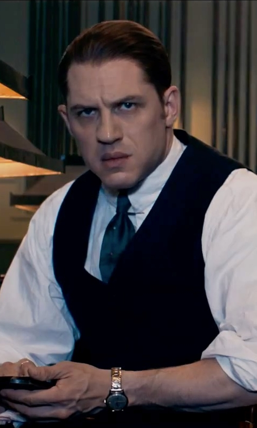 Tom Hardy with Canali Emerald Iridescent Silk 'Exclusive' Tie in Legend