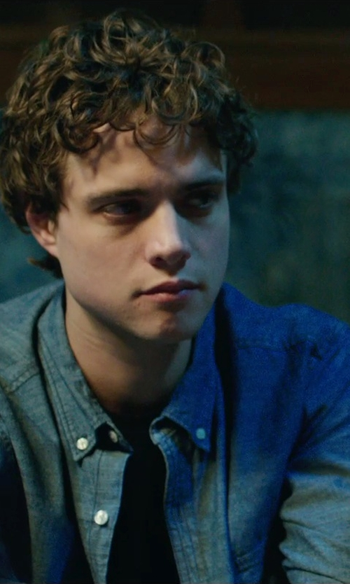Douglas Smith with Billy Reid Downing Jean Jacket in Ouija