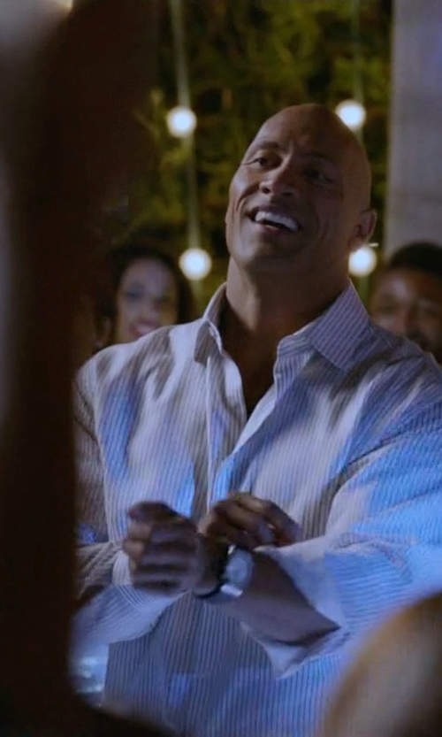 Dwayne Johnson with Victorinox Alliance Stainless Steel Watch in Ballers