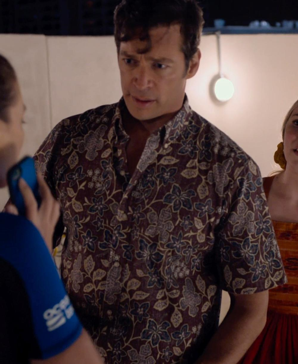Harry Connick Jr. with Surface to Air Aloha Cadillac Short Sleeve Shirt in Dolphin Tale 2