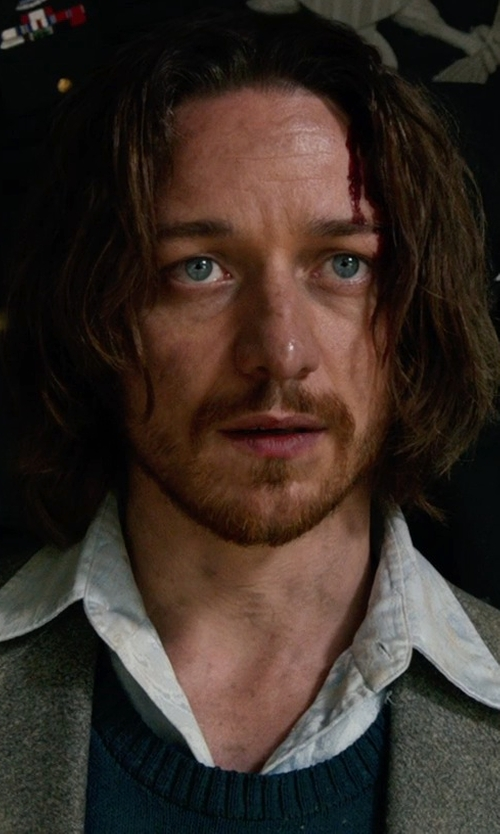 James McAvoy with Club Room Solid Cable-Knit Sweater Vest in X-Men: Days of Future Past