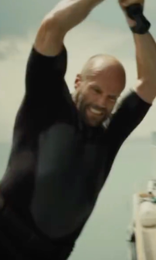 Jason Statham with Quiksilver Heater Graphic-Print Logo Rashguard in Mechanic: Resurrection