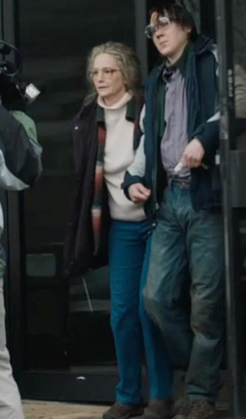 Melissa Leo with Karen Scott Petite Marled-Knit Turtleneck Sweater in Prisoners