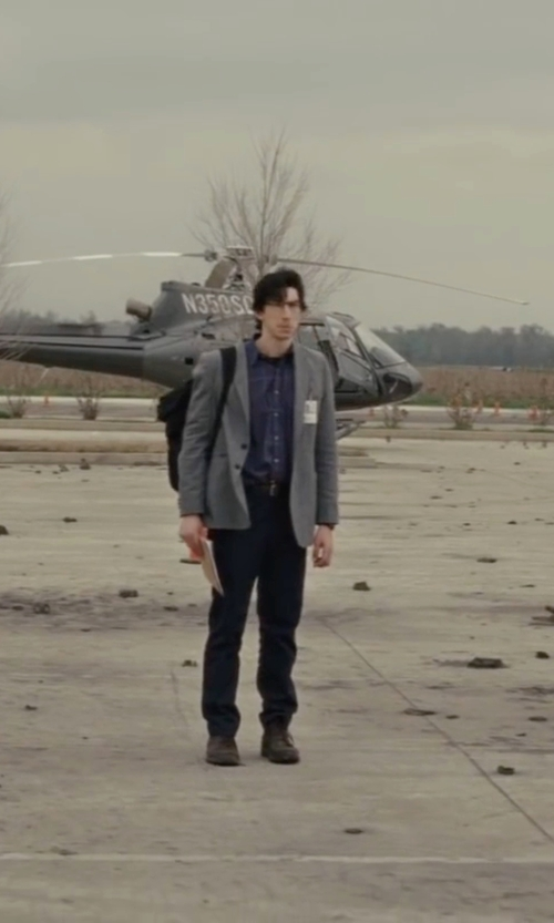 Adam Driver with Tommy Hilfiger Stripe Button Down Shirt in Midnight Special