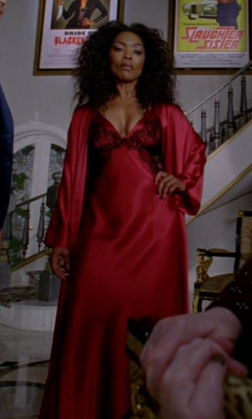 Angela Bassett with Oscar De La Renta Tying The Knot Long Robe in American Horror Story