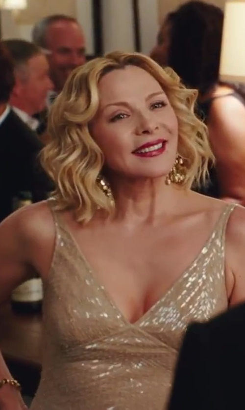 Kim Cattrall with Freida Rothman 'Femme' Chandelier Earrings in Sex and the City 2
