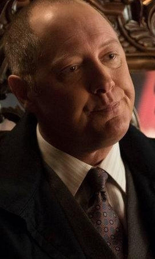 James Spader with Saks Fifth Avenue Collection Bridge Striped Cotton Dress Shirt in The Blacklist