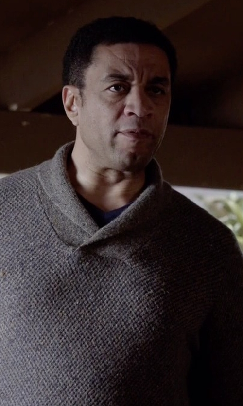 Harry Lennix with Tommy Bahama  West Highland Shawl-Collar Sweater in The Blacklist