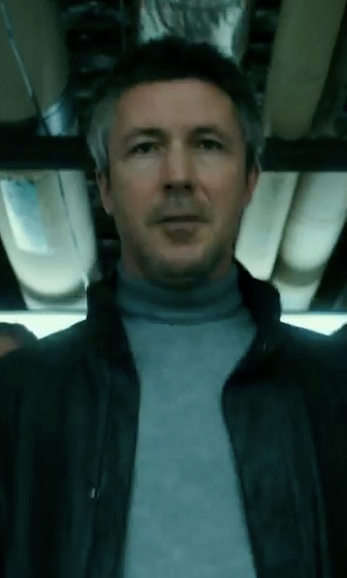 Aidan Gillen with Cole Haan Faux Leather Jacket in Maze Runner: The Death Cure