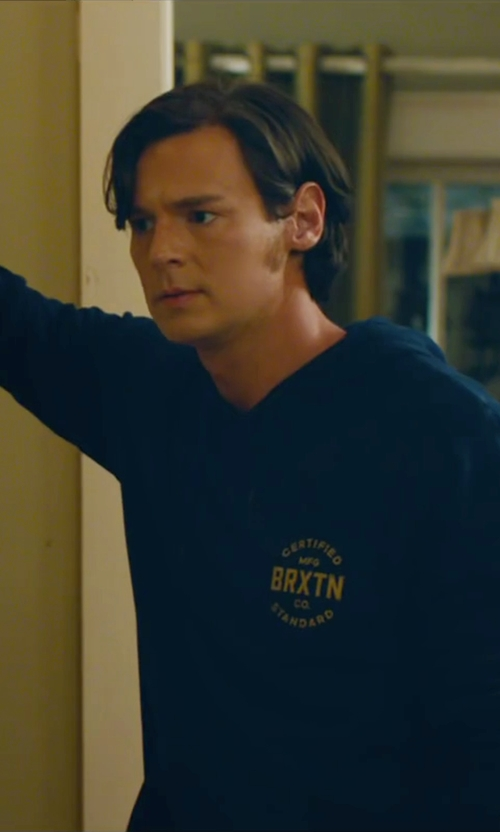 Benjamin Walker with Lacoste Jersey Hoodie in The Choice