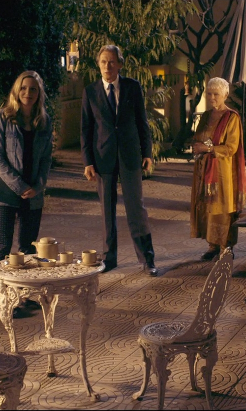 Bill Nighy with Lands' End Solid Silk Repp Necktie in The Second Best Exotic Marigold Hotel