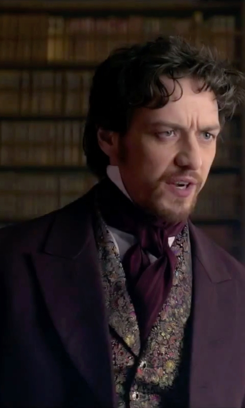 James McAvoy with Al Duca D'aosta 1902 Single Breasted Coat in Victor Frankenstein