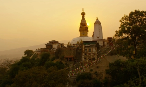 Benedict Cumberbatch with Harati Devi Temple Kathmandu, Nepal in Doctor Strange