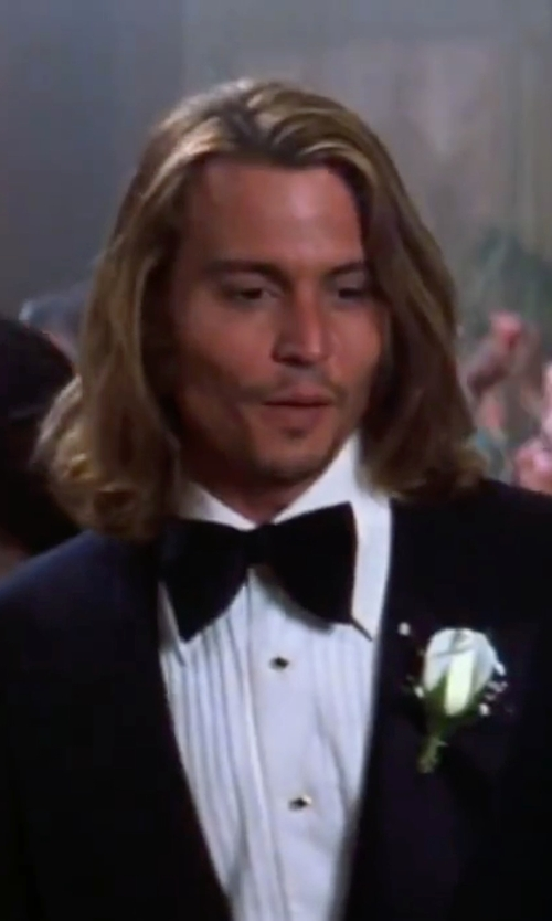 Johnny Depp with Dolce & Gabbana Silk Bow Tie in Blow