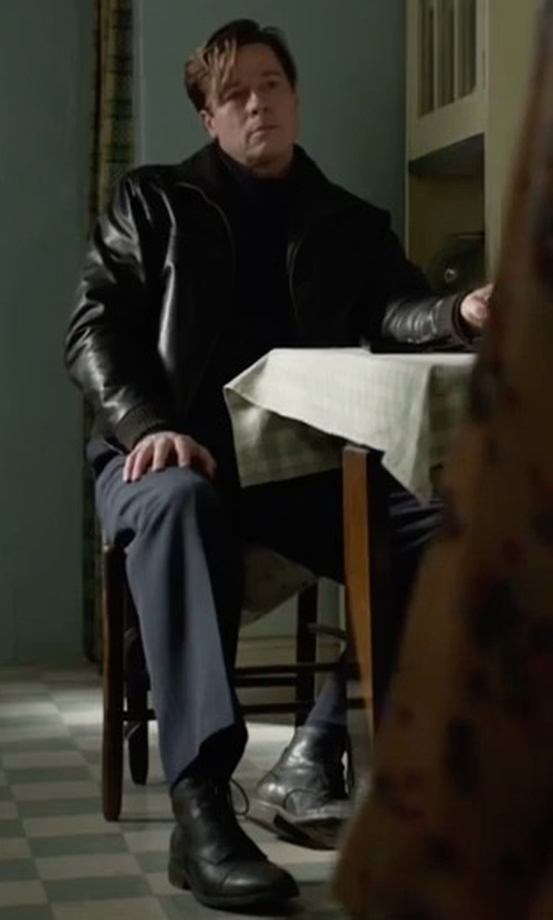 Brad Pitt with Wolverine 1000 Mile Leather Boots in Allied