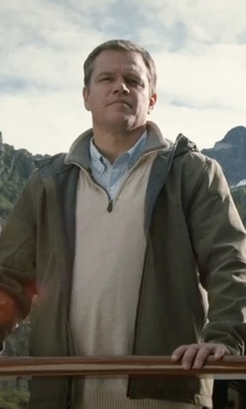 Matt Damon with The North Face 'Millerton' Dryvent Waterproof Hooded Jacket in Downsizing