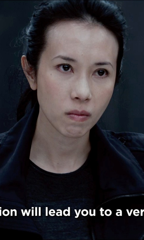 Karen Mok with Kenzo 'Tiger' T-shirt in Man of Tai Chi