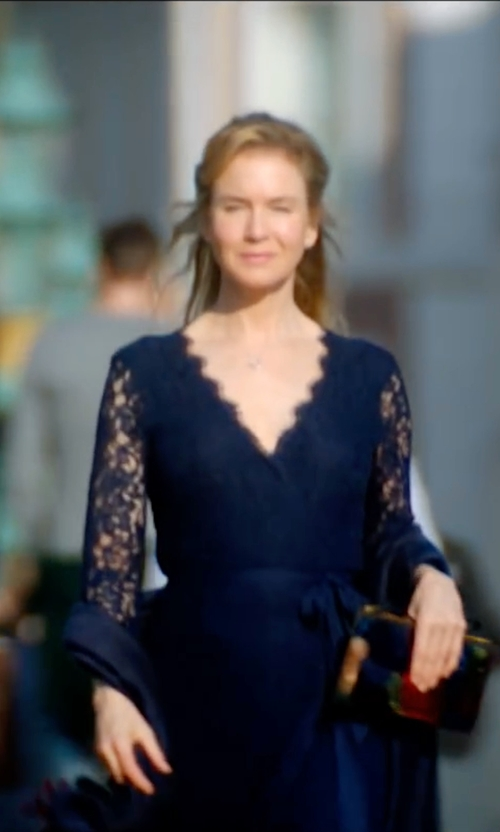 Renée Zellweger with Diane Von Furstenberg Julianna Dress in Bridget Jones's Baby