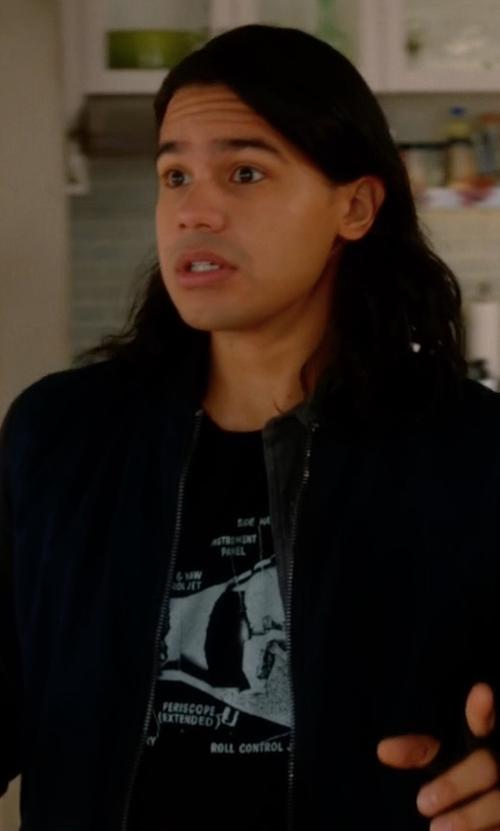 Carlos Valdes with Robert Graham Santa Skull Graphic T-Shirt in The Flash
