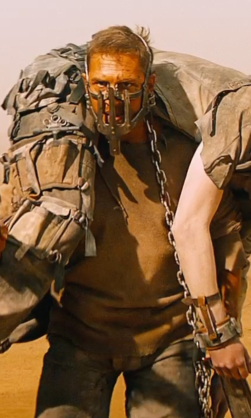 Tom Hardy with Jenny Beavan (Costume Designer) Custom Made Leather Trousers (Max Rockatansky) in Mad Max: Fury Road