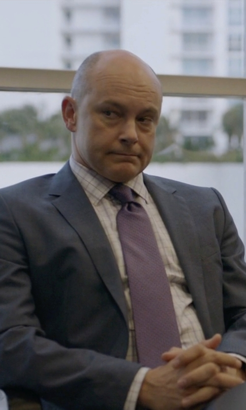 Rob Corddry with Z Zegna Classic Two Piece Suit in Ballers
