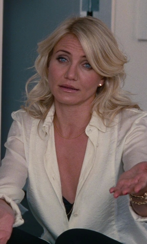 Cameron Diaz with Jennifer Fisher Jewelry Large Stud Earrings in The Other Woman