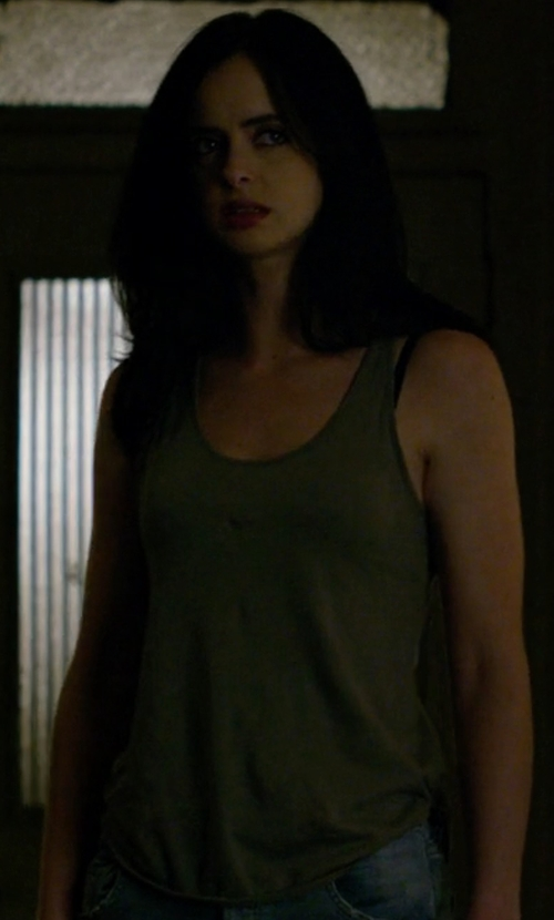 Krysten Ritter with Majestic Jersey Tank Top in Jessica Jones