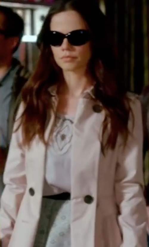 Tammin Sursok with Keepsake Chain Reaction Coat in Pretty Little Liars