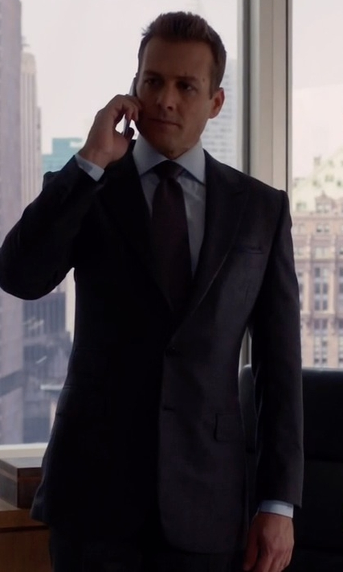 Gabriel Macht with Tom Ford Windsor Base Birdseye Wool Suit in Suits