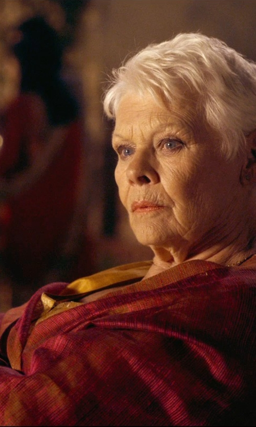 Judi Dench with Sly010 Blouse in The Second Best Exotic Marigold Hotel