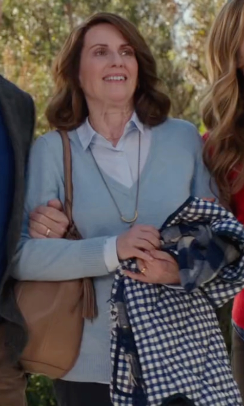 Megan Mullally with Lilly Pulitzer  Taryn V-Neck Sweater  in Why Him?
