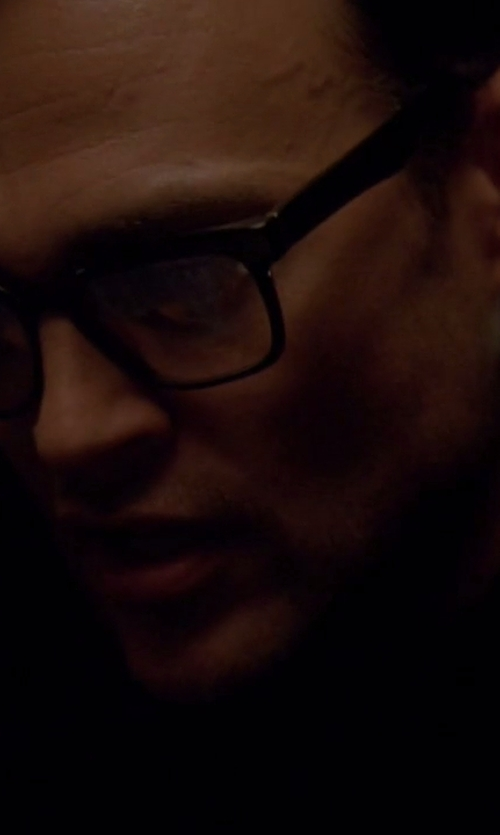 Cheyenne Jackson with Persol Square-Frame Optical Glasses in American Horror Story