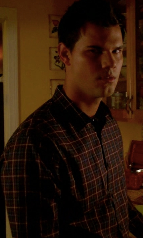 Taylor Lautner with Ovadia & Sons Midwood Plaid Shirt in Scream Queens