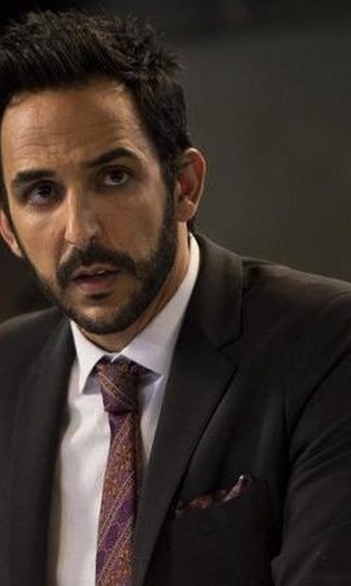 Amir Arison with Express Three Button Photographer Suit Jacket in The Blacklist