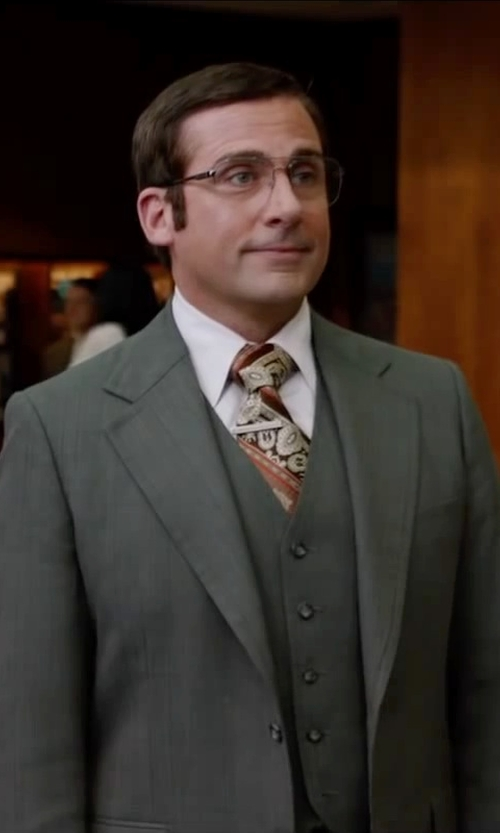 Steve Carell with Tommy Bahama Men's Maxi Tropical Paisley Necktie in Anchorman 2: The Legend Continues