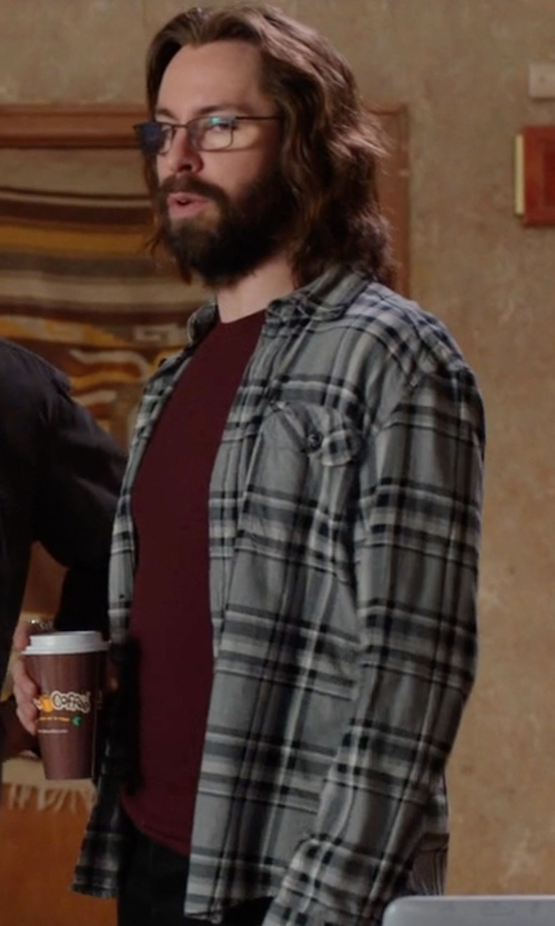 Martin Starr with O'Neill Palisade Flannel Woven Shirt in Silicon Valley