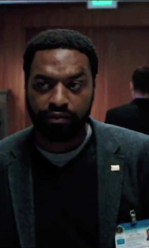 Chiwetel Ejiofor with H&M Wool-Blend Blazer in Secret in Their Eyes