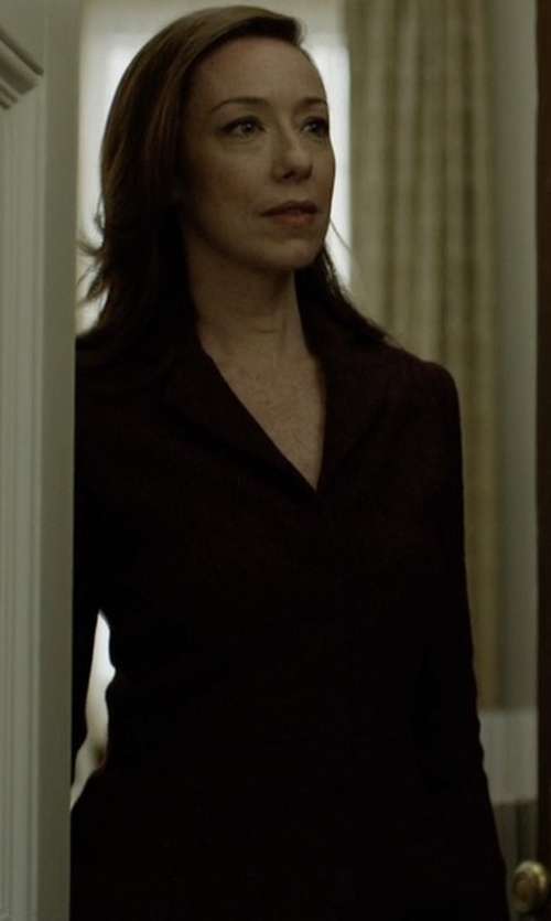 Molly Parker with Akris Patricia Cashmere Blazer in House of Cards