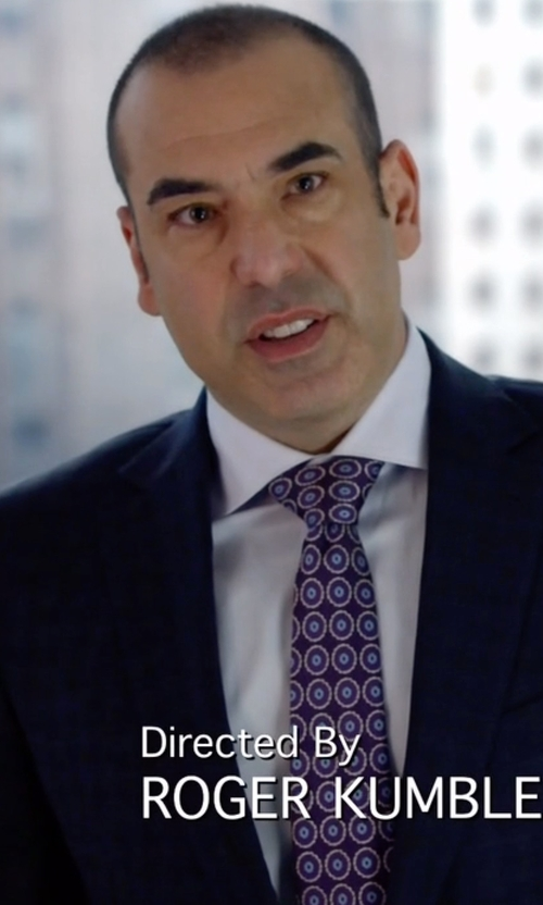 Rick Hoffman with Gieves & Hawkes Poplin Shirt in Suits