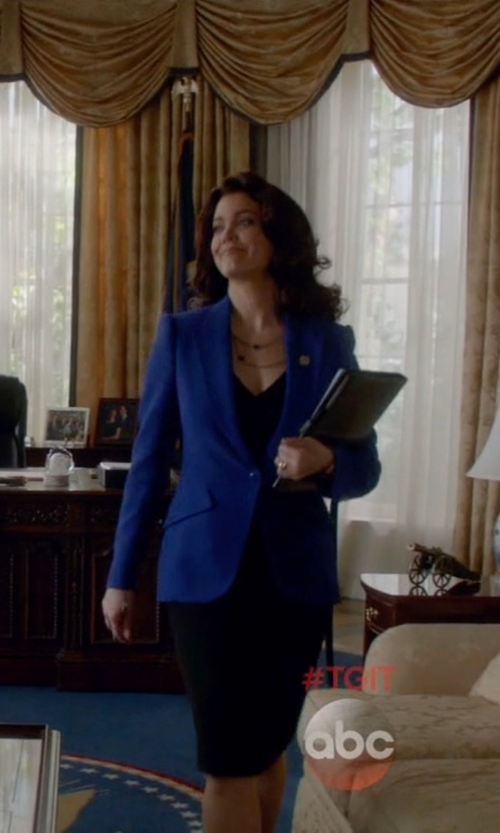 Bellamy Young with Escada Brikena Blazer in Scandal