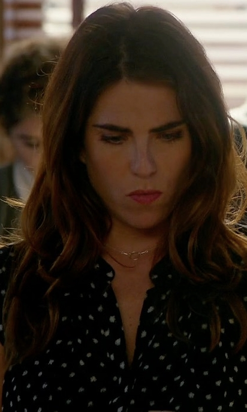 Karla Souza with The Kooples Polka Dot Silk Top in How To Get Away With Murder