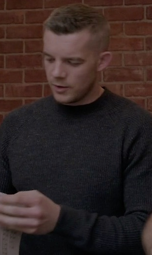 Russell Tovey with Polo Ralph Lauren Slim-Fit Crewneck Sweater in Quantico