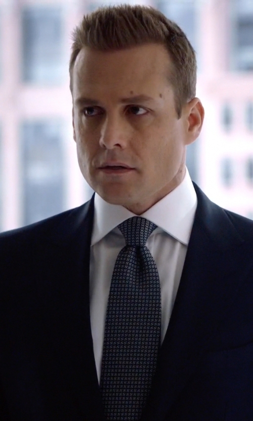 Gabriel Macht with Eton of Sweden Neat Diamond Print Classic Tie in Suits