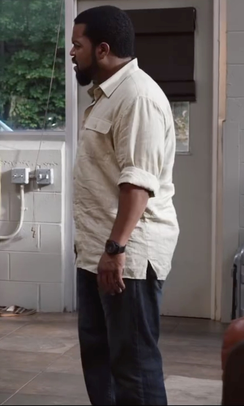 Ice Cube with 7 For All Mankind Montana Wash Denim Pants in Ride Along 2